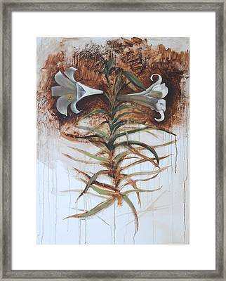 Framed Print featuring the painting Lily by Alla Parsons