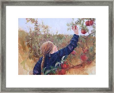 Lilyana Framed Print by Laura Lee Zanghetti