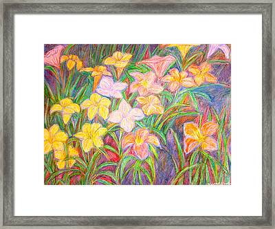 Lily Glow Framed Print by Kendall Kessler