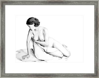 Lily Grace Of Form 3 Framed Print by Joseph Ogle
