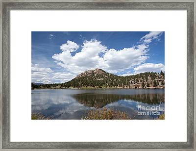 Lily Lake Relection Framed Print