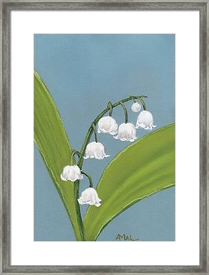 Lily Of The Valley Framed Print by Anastasiya Malakhova