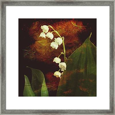 Lily Of The Valley Framed Print by Patricia Januszkiewicz