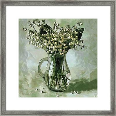 Lily Of The Valley Framed Print by Vasiliy Agapov