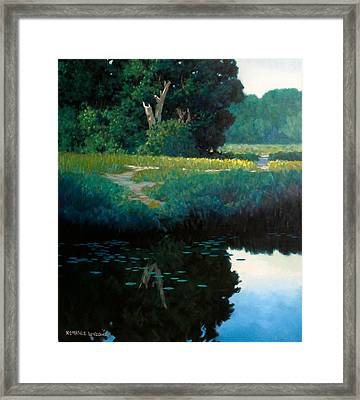 Lily Pads Framed Print by Kevin Lawrence Leveque