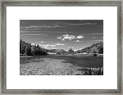 Lily Pads On Long Pond Acadia National Park Framed Print by Keith Webber Jr
