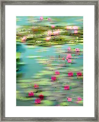 Lily Pond Impressions Framed Print by Jessica Jenney