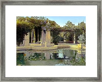 Lily Pond Framed Print by Terry Reynoldson