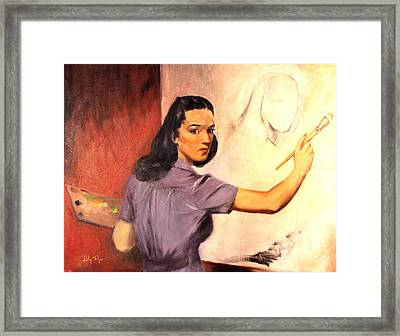 Lily Self Portrait 1940 Framed Print