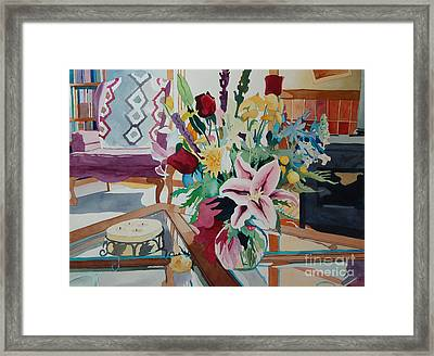 Lily Still Life Framed Print by Terry Holliday