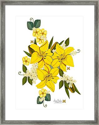 Lily Triplets Framed Print by Anne Norskog