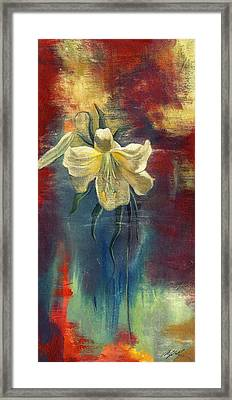 lily with Abstraction Framed Print by Alfred Ng