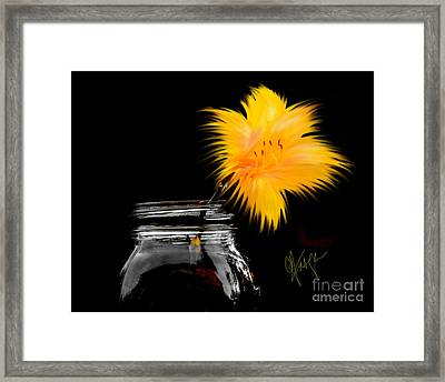 Framed Print featuring the photograph Lily Yellow by Chris Fraser