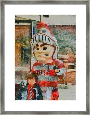 Lima Senior Mascot Framed Print by Dan Sproul
