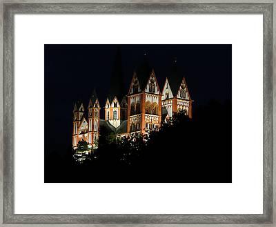 Limburg Cathedral At Night Framed Print by Jenny Setchell