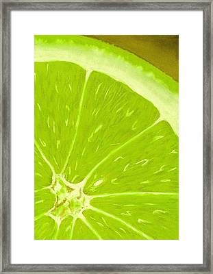 Lime Framed Print