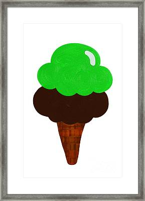 Lime And Chocolate Ice Cream Framed Print by Andee Design