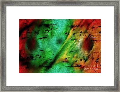 Framed Print featuring the digital art Lime And Orange Counterpoint by Lon Chaffin