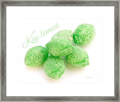 Lime Candy Framed Print by Iris Richardson