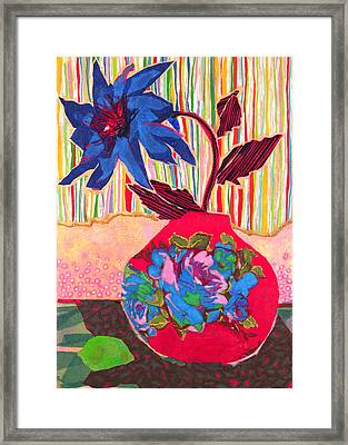 Lime Framed Print by Diane Fine