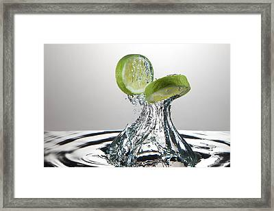 Lime Freshsplash Framed Print
