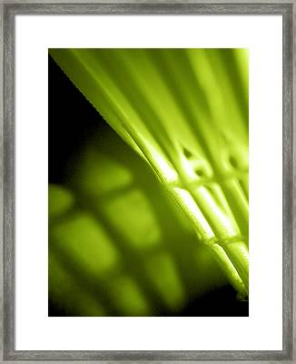 Lime Green Shuttlecock Wall Art Framed Print