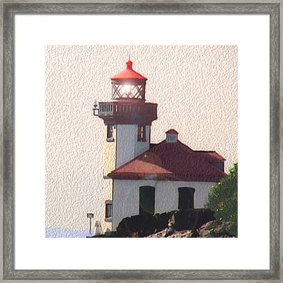 Lime Kiln Lighthouse Framed Print by John Hines