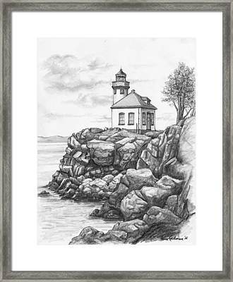 Lime Kiln Lighthouse Framed Print by Kim Lockman