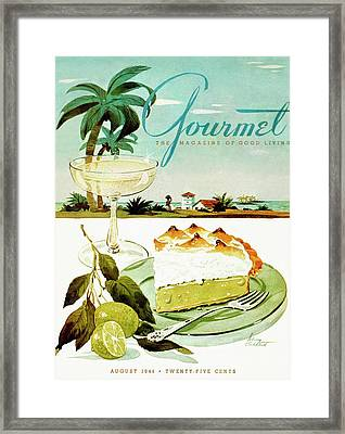Lime Meringue Pie With Champagne Framed Print by Henry Stahlhut