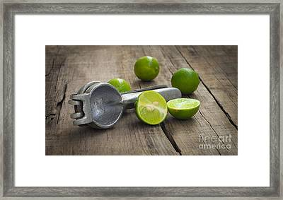 Lime Press Framed Print by Aged Pixel