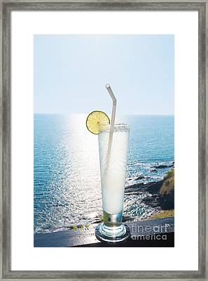 Lime Soda Framed Print