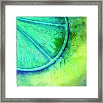 Lime Zest Framed Print by Debi Starr