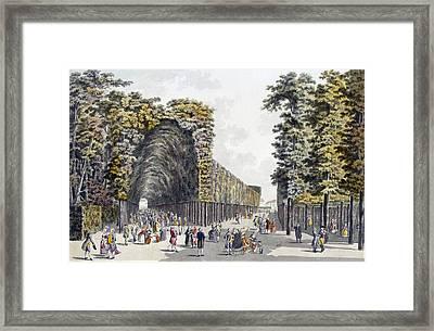 Limegrove Walk, Augarten, Vienna, 1790s Framed Print by Johann Ziegler