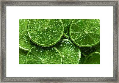 Limes Framed Print by David Blank
