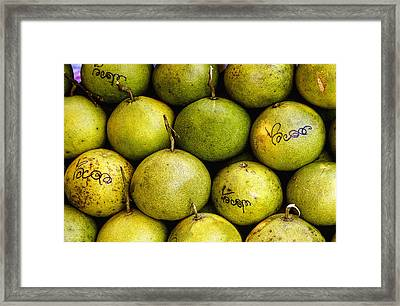 Limes Framed Print by Jean Noren