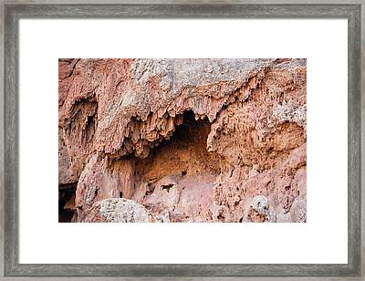Limestone Cave In The Anti Atlas Framed Print by Ashley Cooper