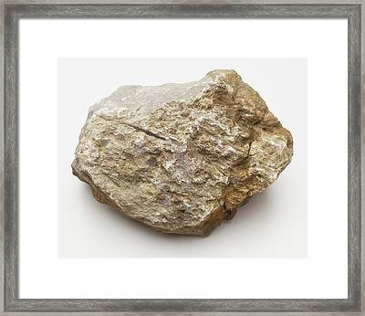 Limestone Rock Framed Print