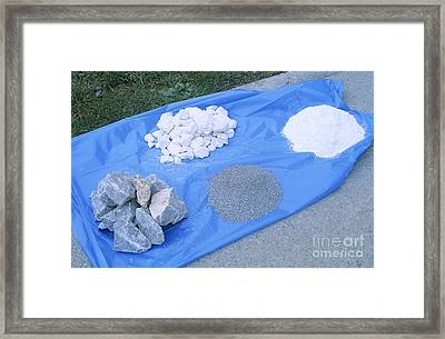 Limestone Rock Products Framed Print