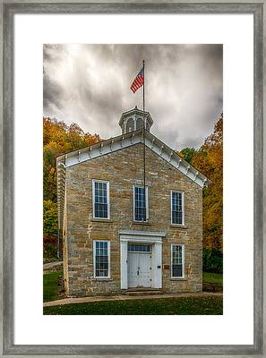 Limestone School House Framed Print by Paul Freidlund