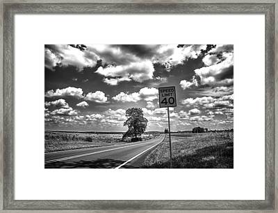 Limit Framed Print by Kristopher Schoenleber