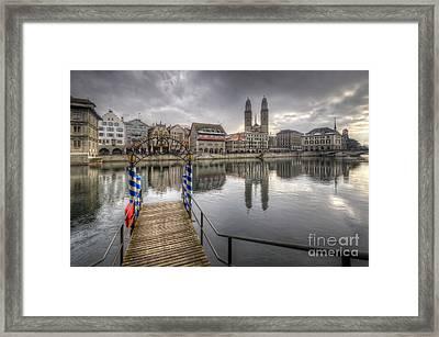 Limmat River Reflections Framed Print