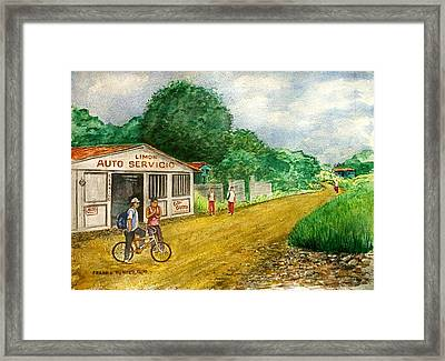 Limon Costa Rica Framed Print by Frank Hunter