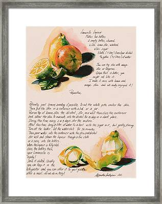 Limoncello Liqueur  Framed Print by Alessandra Andrisani
