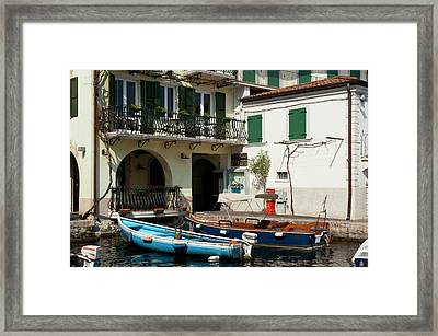 Limone Del Garda, Lago Di Garda Framed Print