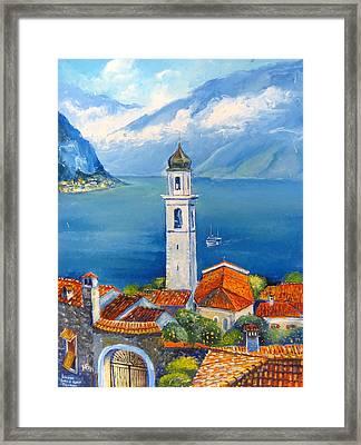 Limone-lago Di Garda Framed Print