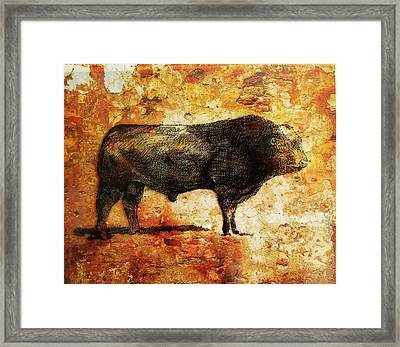French Limousine Bull 10 Framed Print by Larry Campbell