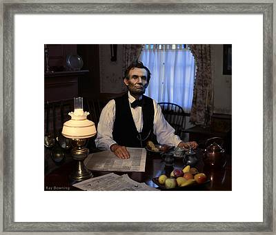 Lincoln At Breakfast 2 Framed Print
