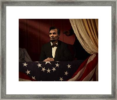 Lincoln At Fords Theater 2 Framed Print