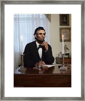 Lincoln At His Desk 2 Framed Print
