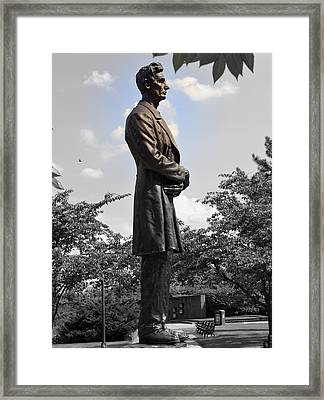 Lincoln At Lytle Park Framed Print